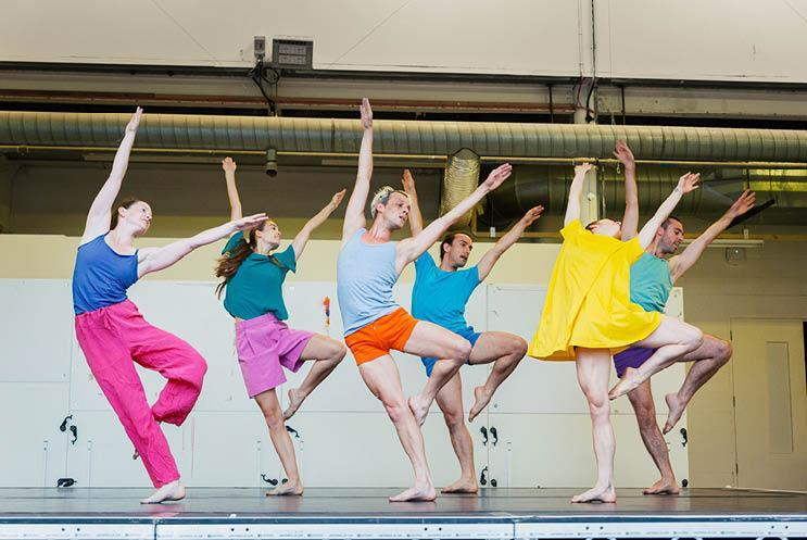 colourful dancers dancing